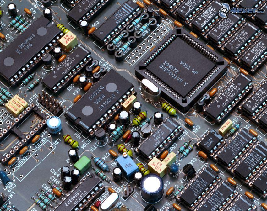 moderkort, processor