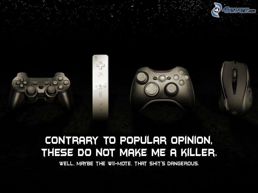 Playstation, joystick, fjärrkontroll, mus