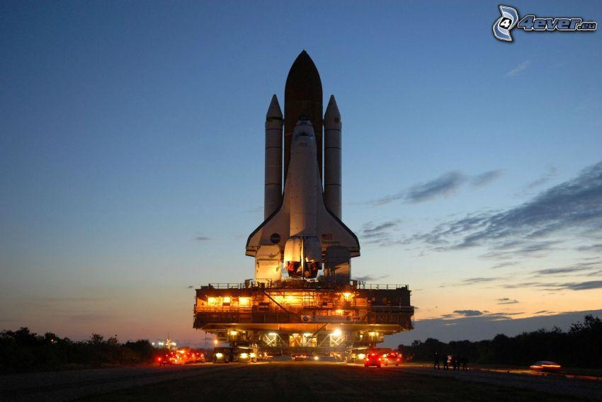 raket, kväll