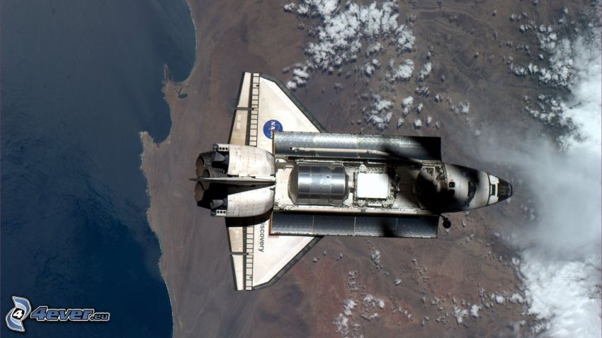rymdfärjan Discovery, Jorden