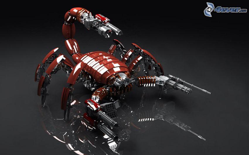 skorpion, robot, mekaniskt djur