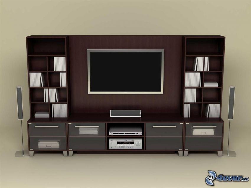 TV, vardagsrum