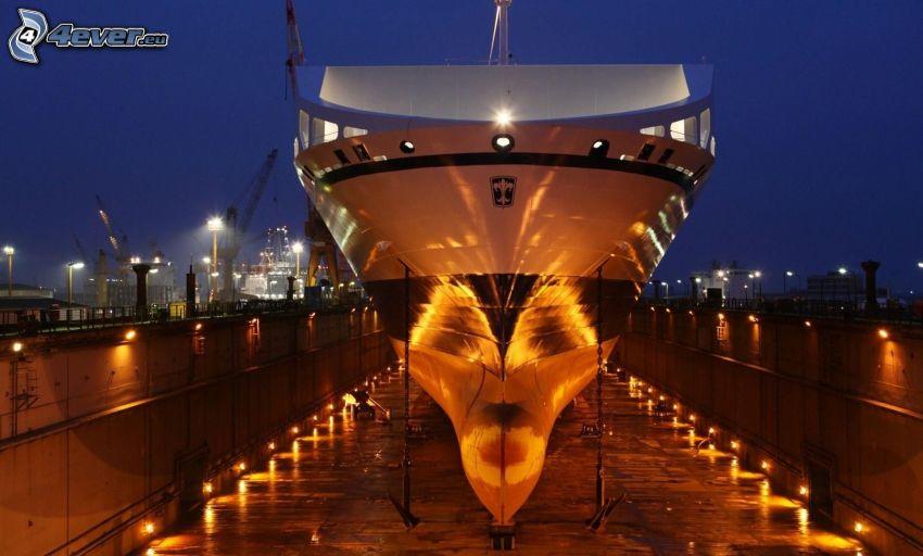 båt, belysning