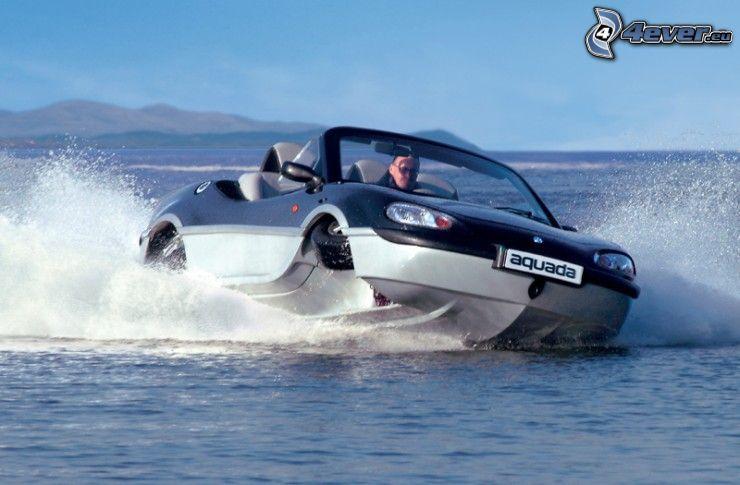 båt, bil, vatten