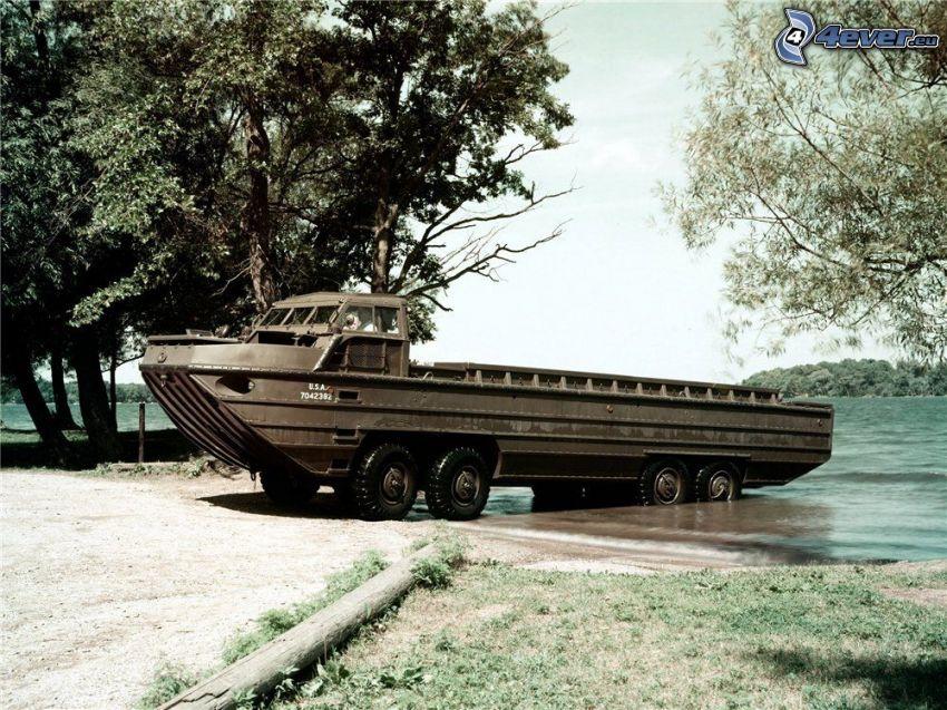 båt, hjul