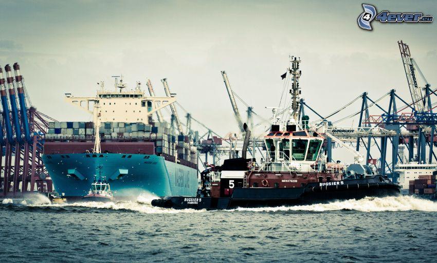 hamn, fartyg