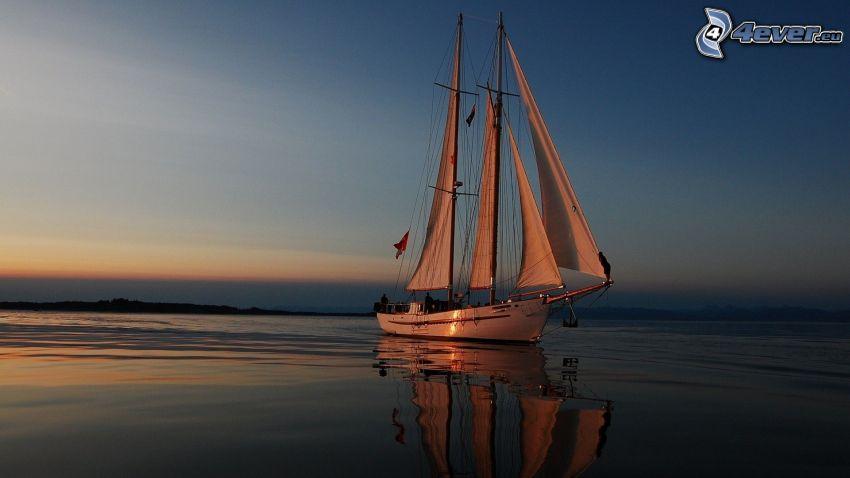 segelbåt, båt, hav