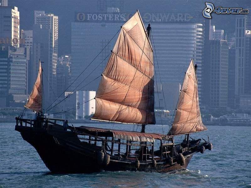 segelbåt, båt