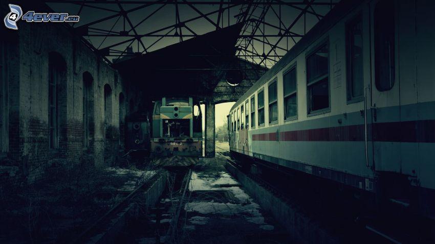 järnvägsstation, tåg