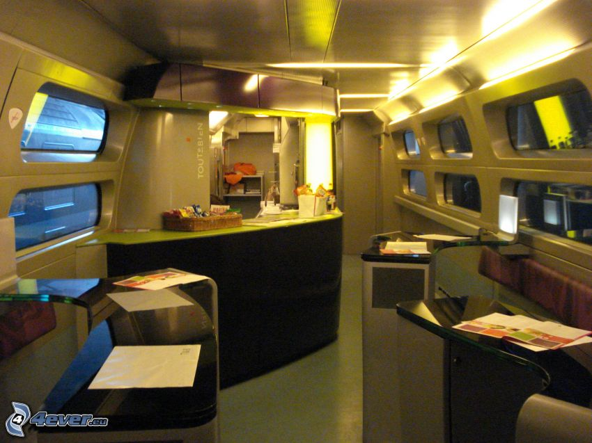 TGV, interiör, bar