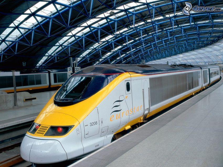 TGV, tåg, station