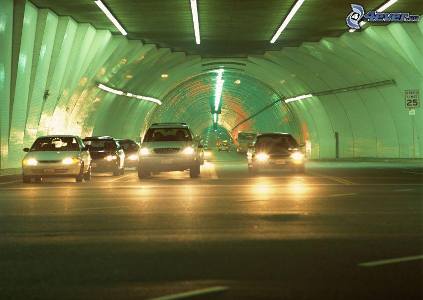 tunnel, bilar