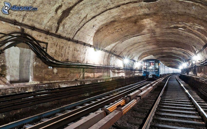 tunnelbana, tunnel