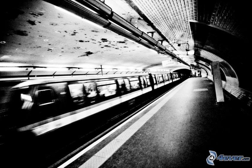 tunnelbana, tunnelbanestation