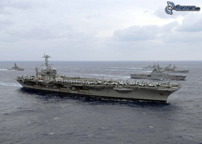 USS George Washington, hangarfartyg, öppet hav