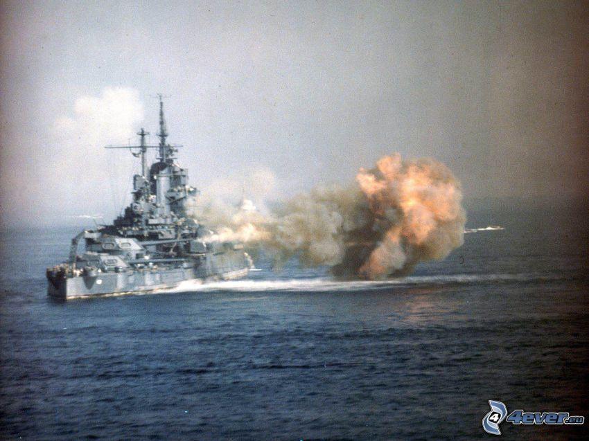USS Idaho, explosion, öppet hav