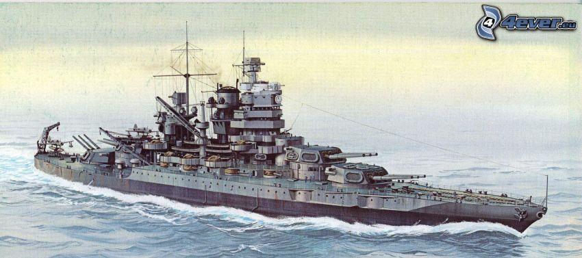 USS Idaho, tecknat