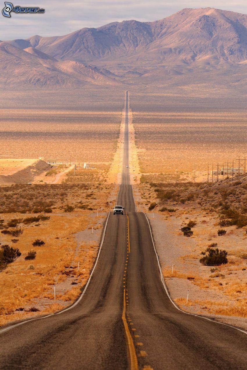 väg, Death Valley, kulle