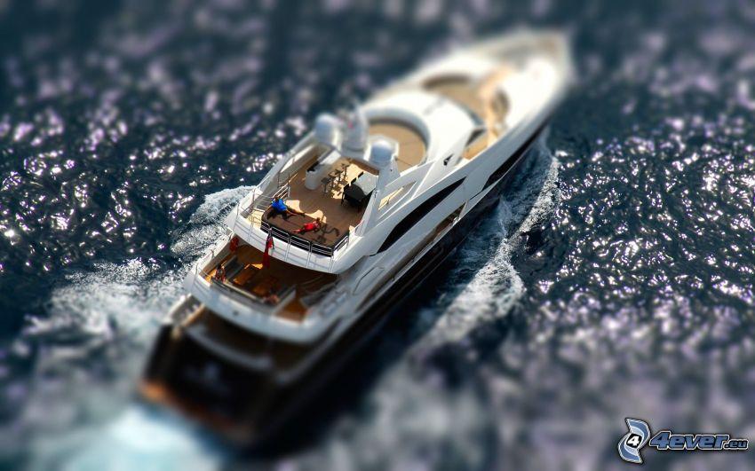 yacht, diorama