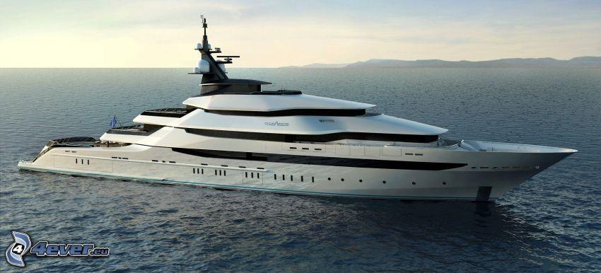 yacht, hav