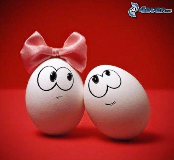 ägg, kärlek, rosett