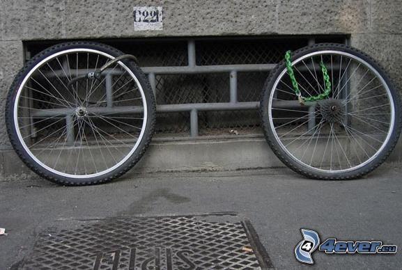 hjul, cykel, stöld