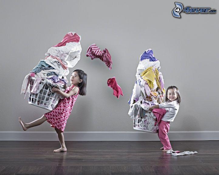 barn, tvättkläder