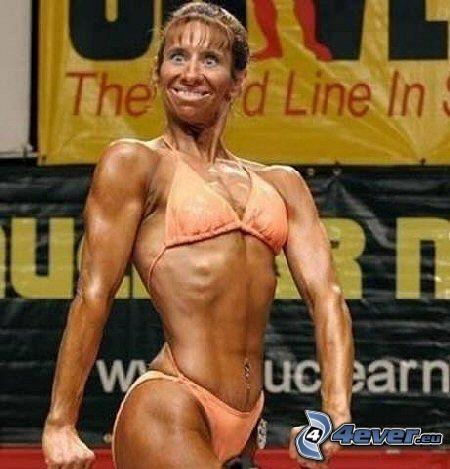 fitnesskvinna, muskler, styrketräning