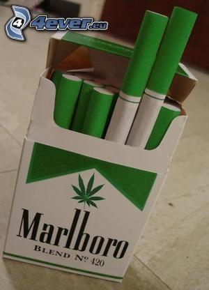 Marlboro, ganja, cigaretter, droger, parodi