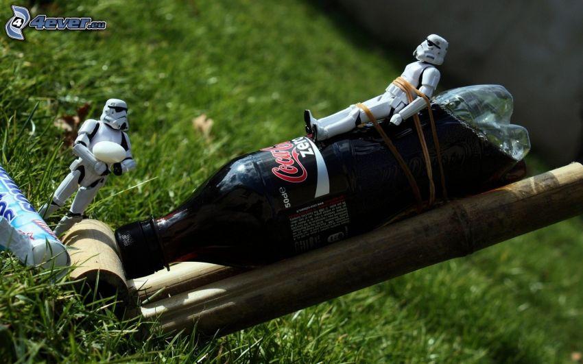 raket, Coca Cola, Mentos, Stormtrooper, parodi