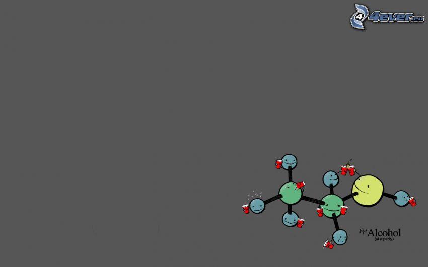 alkohol, molekyl
