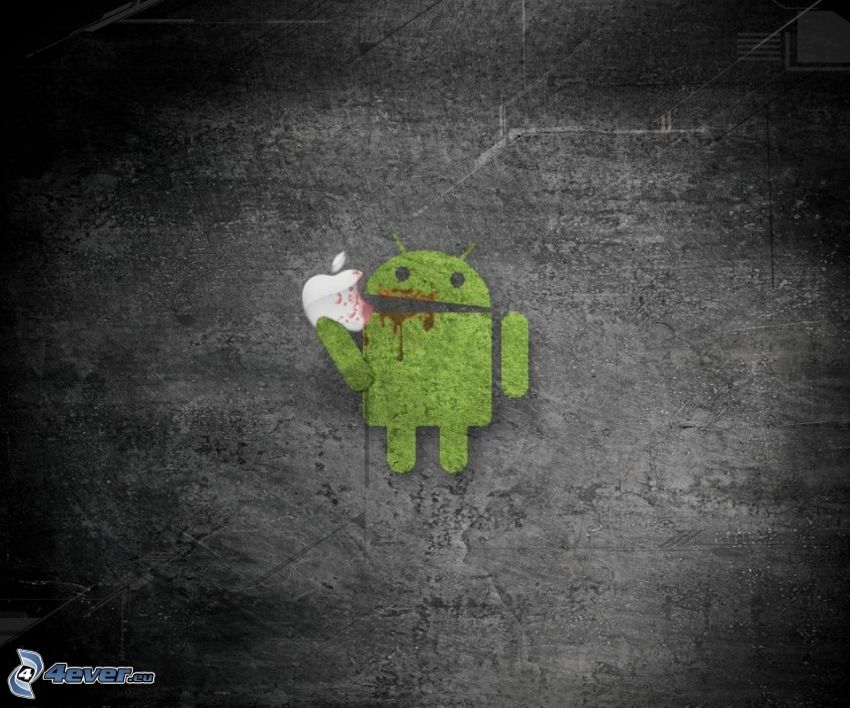 Android, Apple, duell