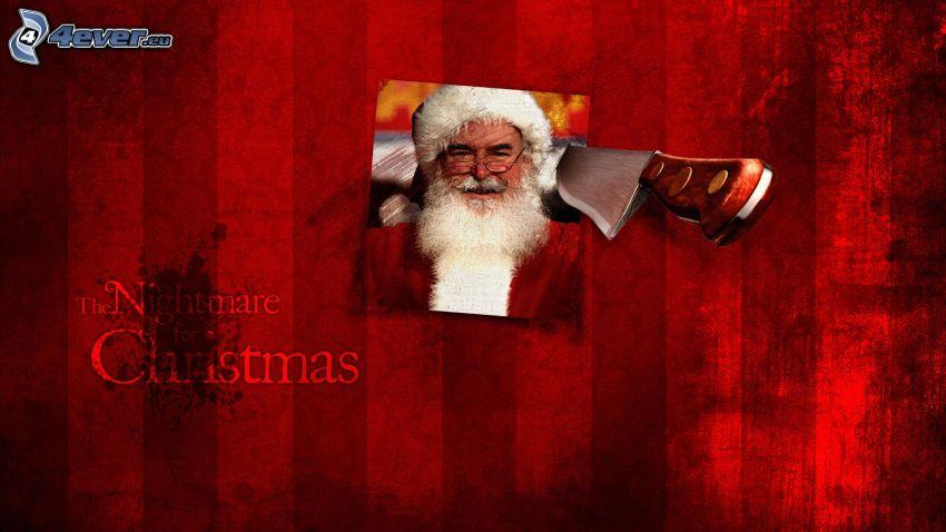 Jultomten, kniv, The Nightmare Before Christmas
