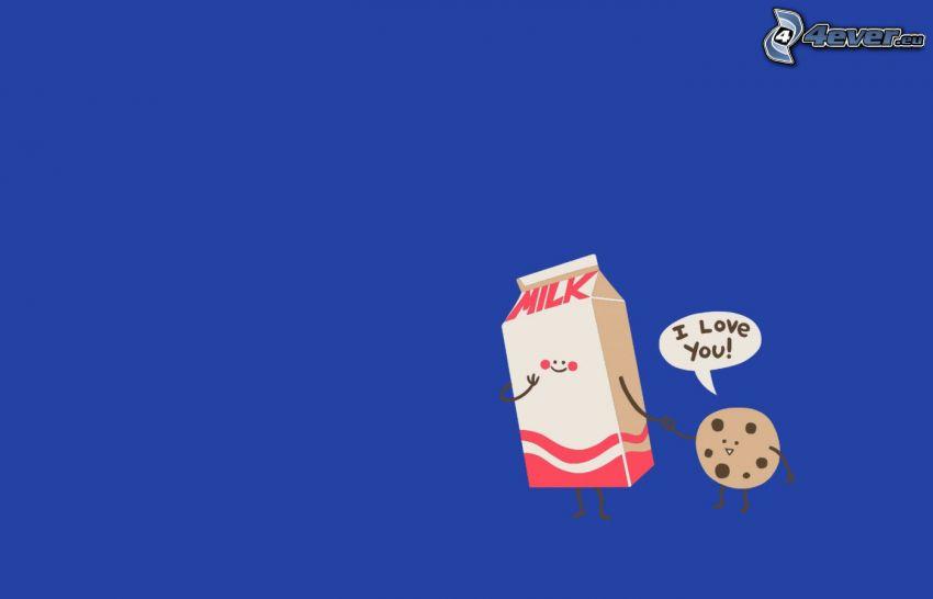 mjölk, cookies, I love you