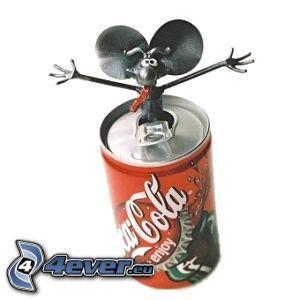 plåtburk, Coca Cola, mus