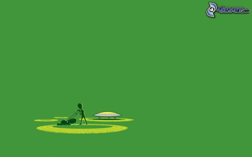 utomjording, gräsklippare, sädesfältscirklar