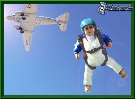 fallskärmshoppare, flygplan