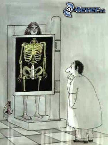 Röntgen, vibrator, tecknat
