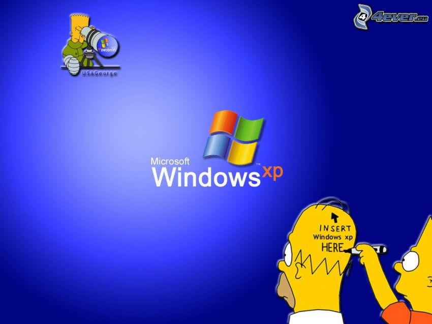 The Simpsons, Windows XP