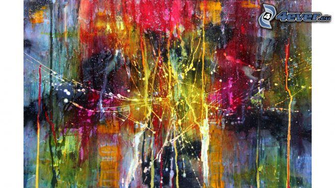 dibujo, abstracto, manchas