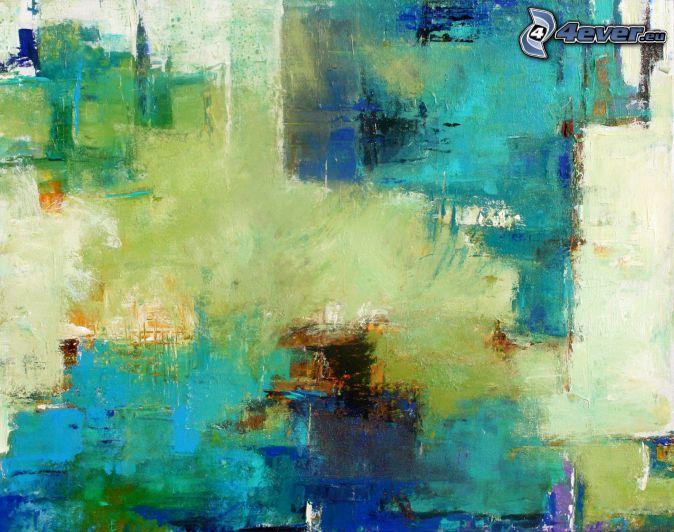 dibujo de pantalla abstracto, fondo azul, manchas