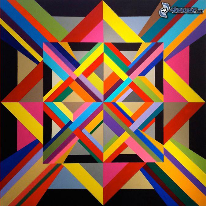 líneas de color, dibujo de pantalla abstracto