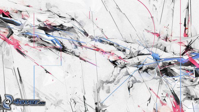 manchas, líneas de color