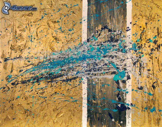 manchas de color, dibujo de pantalla abstracto