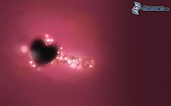 corazón, love, fondo morado