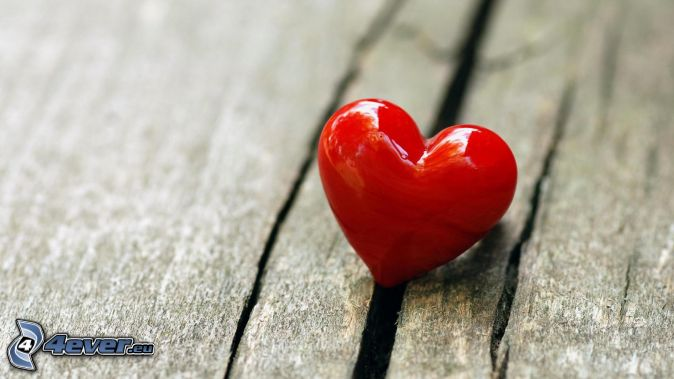 corazón, madera