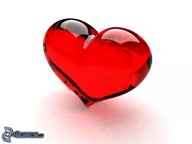 corazón rojo