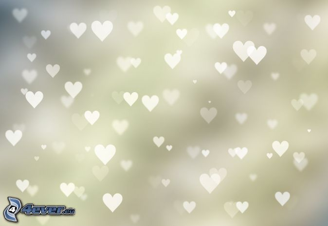 corazones, fondo blanco