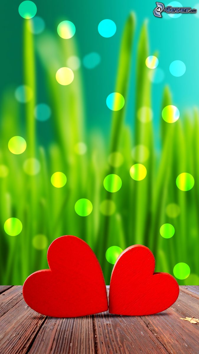 corazones, paja de hierba