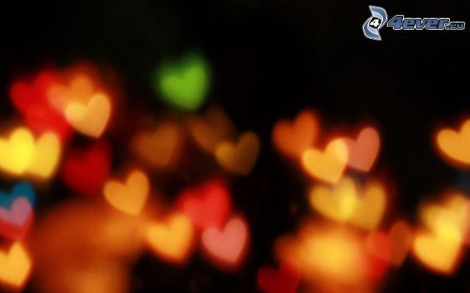 corazones de color